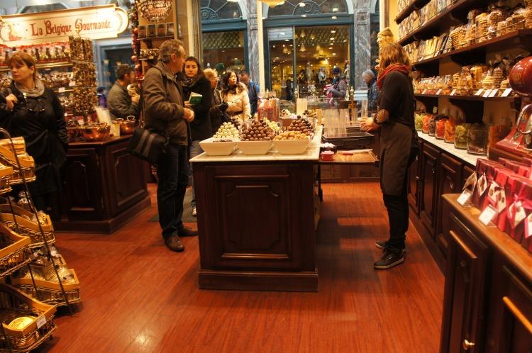 La Belgique Gourmande, a very popular chocolate shop