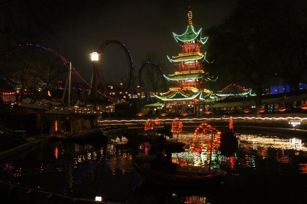 rides Tivoli Gardens amusement park Christmas december