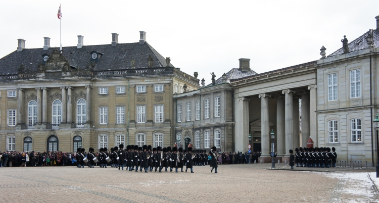 Changing of the guard at Amalienborg Palace
