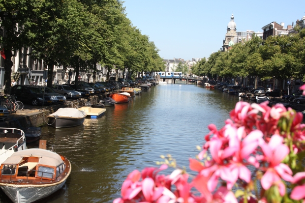 Amsterdam city canal pretty