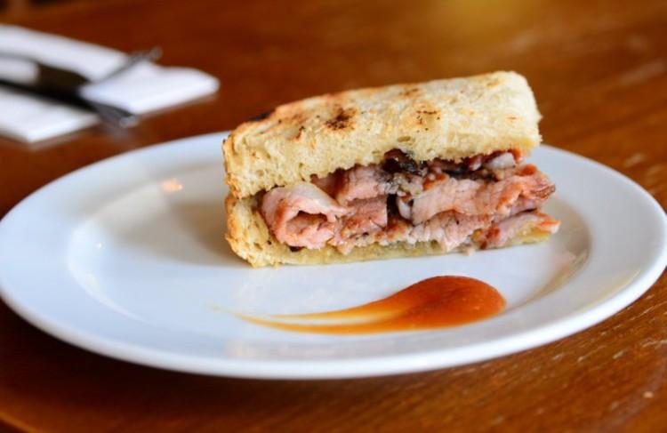 Bacon sandwich at St. John's Food & Wine, Spitalfields