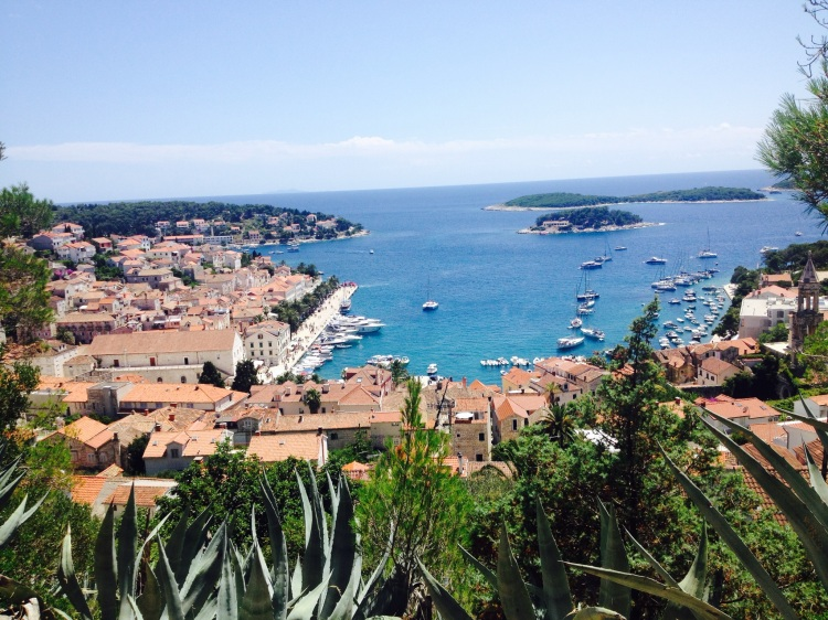 hvar view from fortress