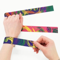 slap bracelet fashion 80s