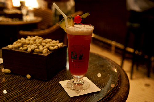 Singapore Sling at Raffles Hotel's Long Bar
