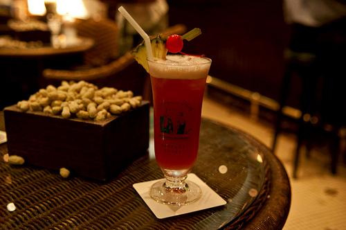 Singapore Sling at Raffles Hotel's Long Bar