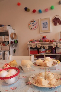 felted baubles class tea and crafting camden