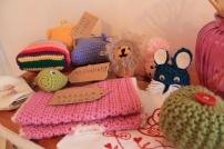crochet mittens, amigurumi, crochet purse