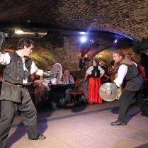medieval knight sword fight