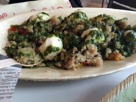 rossopomodoro quinoa salad mozarella feta
