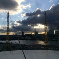 view from the o2 arena climb