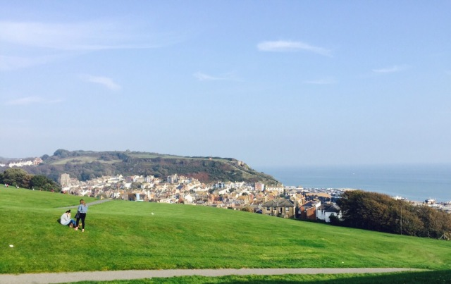 view from west hill cliff hastings