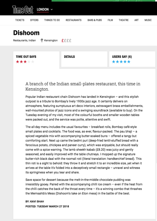 dishoom-kensington-review