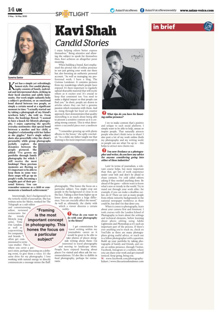 Kavi Shah.Asian.Voice.interview